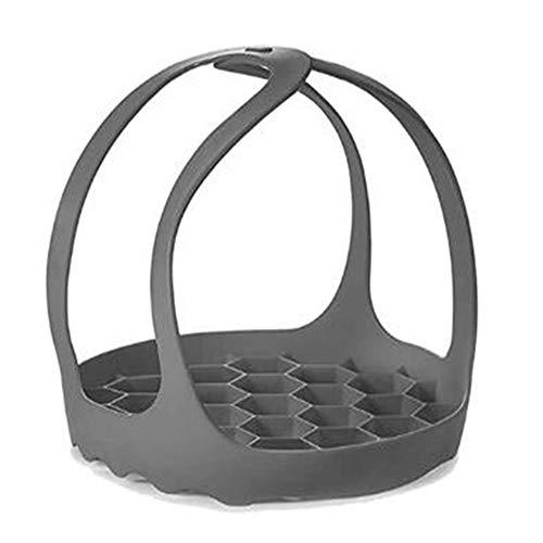 Gesh Sangle pour autocuiseur - En silicone - Pour cuisson à la vapeur - Pour 6 Qt/8 Qt - Multifonction - Gris