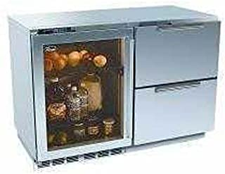 Perlick Built In Double Refrigerators With Overlay Glass Door And Integrated Drawers (Requires Custom Panels)