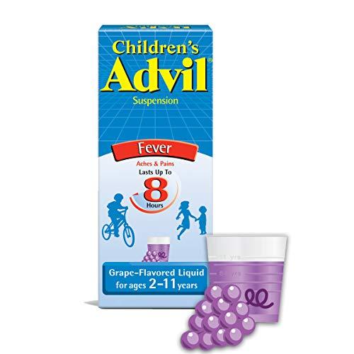 Children's Advil Liquid Pain Relief Medicine and Fever Reducer, 100 Mg Children's Ibuprofen for Ages 2-11, Grape - 4 Fl Oz