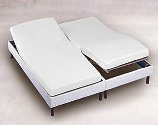 Drap Housse 2x90x200 Blanc TPR