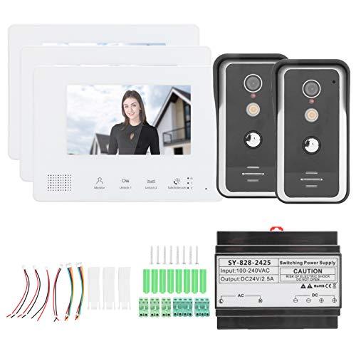 FECAMOS Videoportero con Cable, 3 monitores de bajo Consumo de energía Sistema...