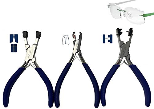 Pliers for Rimless Adjusting Rimless Disassembly Glasses Frame Silhouettes Eyeglass Plier Set Optical Tool