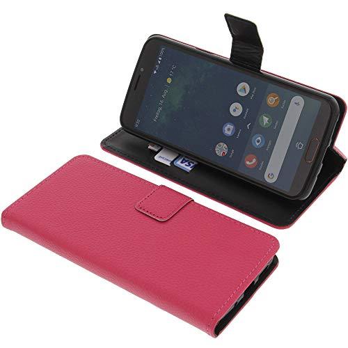 Tasche für Doro 8080 Book Style pink Schutz Hülle Buch