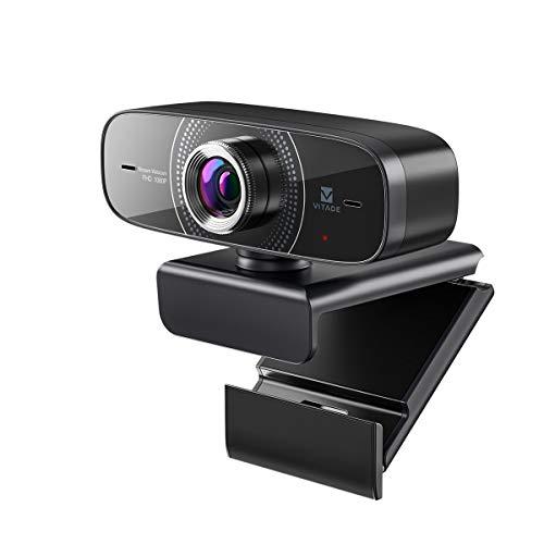 【2021年版】webカメラ マイク内蔵 ウェブカメラ 広角 1080P 30fps フルHD 200万画素 高画質 USB接続 プラグアンドプレー PC Mac対応 ノイズキャンセリング機能 自動光補正 三脚対応 多角度調整 zoom skype ウェブ会議 ビデオ通話 WinXP/Vista / Win10など互換性-Vitade 826M