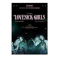 Lovesick GirlBlackpinkポスターブティックキャンバスアートポスターとプリント印刷バーオフィスショップモダンな家の寝室の装飾-50x70cmx1pcs-フレームなし