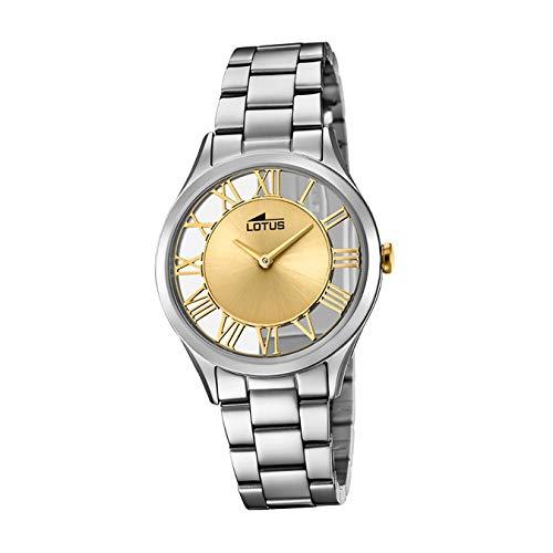 Lotus Reloj Analógico para Mujer de Cuarzo con Correa en Acero Inoxidable 18395/2