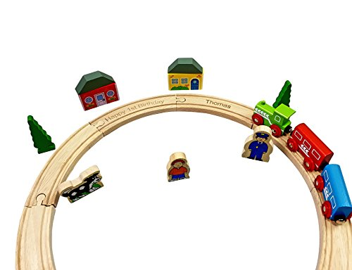 Personalised Engraved Wooden My First Train Set Toddler Gift