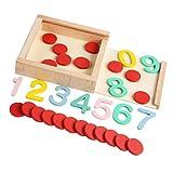 NUOBESTY 1 Juego de Juguetes de Conteo de Matemáticas Niño Montessori Número...