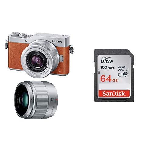 【SDカードセット】パナソニック ミラーレス一眼カメラ ルミックス GF9 ダブルズームレンズキット 標準ズームレンズ/単焦点レンズ付属 オレンジ DC-GF9W-D + SanDisk Ultra SDカード 64GB SDXC Class10 UHS-