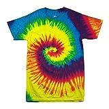 Colortone - Camiseta batik unisex «Swirl» arco iris S