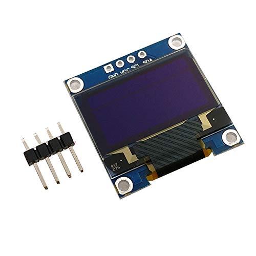 4-Pin 0,96 Zoll OLED IIC weiß/gelb blau/blau 12864 OLED-Display-Modul I2C SSD1306 LCD-Schirm-Brett for Arduino (Color : Blue)