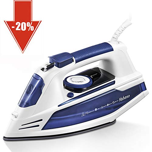 Buy Bargain Yabano Steam Iron, Professional Iron for Clothes with Non-Stick Soleplate, Anti-Drip, 3 ...