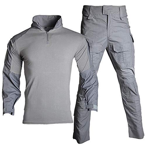 Militäruniform Arbeitskleidung Anzug Männer tragen Tarnung T-Shirt Paintball Cargo Hose Tooling Assault Combat Suit Gray XXXL