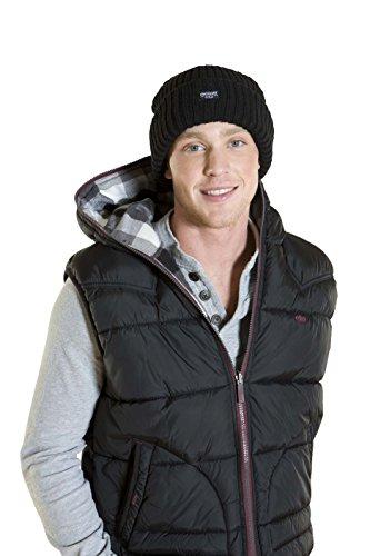 I-Smalls Danny Bonnet d'hiver Thinsulate 3M Thermique Chaud Hiver Homme (Noir)