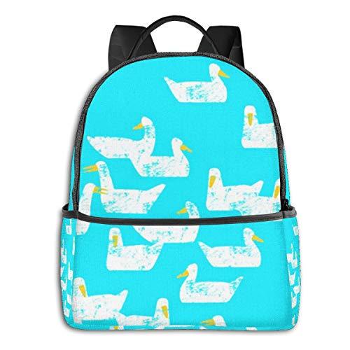 Schulrucksack Schultaschen Mädchen Teenager Rucksack Schultasche Schulrucksäcke wasserdichte Backpack für Damen Herren Geeignet 14 Zoll Notebook Enten Schwimmen sind Nicht