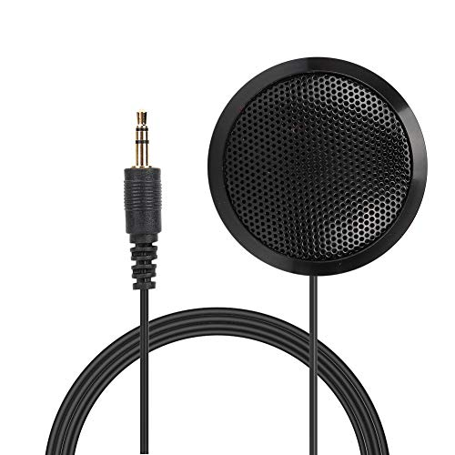 Topiky Microfono per conferenze, Microfono da Tavolo Portatile omnidirezionale da 3,5 mm EY-510 per videoconferenza