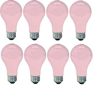 GE 97483 Light, 60w, Soft Pink (8 Bulbs)