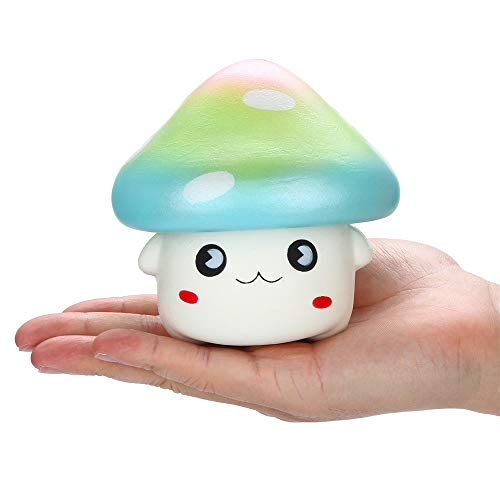 Ulanda Squishies Kawaii Cartoon Mushroom Squishy Slow Rising Fruit Scented Stress Reliever Toys for Children and Adults