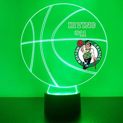Mirror Magic Store Celtics Basketball Sports Fan Lamp/Night Light - LED - Personalize for Free - Featuring Licensed Decal