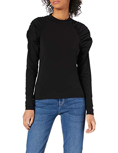 Only ONLDELIA Life L/S Short Top JRS Pullover, Black, M para Mujer