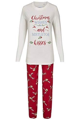Ringella Damen Pyjama Christmas Off-White 44 9511291, Off-White, 44