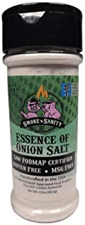 Smoke n Sanity Essence of Onion Salt - Certified Low FODMAP - Contains No Garlic - Certified Gluten Free - Certified Koshe...