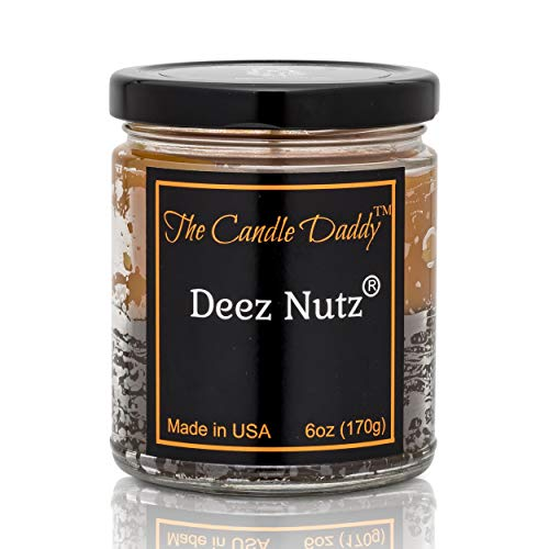 Deez Nutz- Funny- Banana Nut Bread- Hazelnut Vanilla- Scented Candle- Double Pour- 6 Ounce- 40 Hour Burn Time