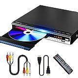 Gueray DVDプレーヤー HDMI/AV端子搭載 最大1080P解像度 USB2.0/Mic対応 DVD/CD再生専用モデル CPRM対応 USBコピー機能付き 防振機能付き リージョンフリー 地上デジタル放送可能 AV/HDMIケーブル付き 日本語説明書付き