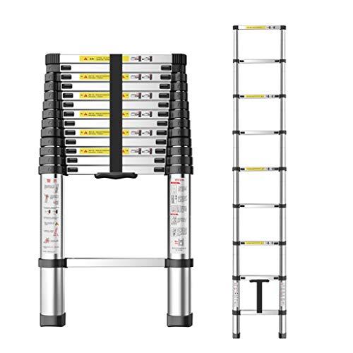 BLWX LY-Step kruk Telescopische Ladder Rechte Ladder Draagbare Inklapbare Verlengde Aluminium Ladder Maximale belasting 330lb voor Industrieel Gebouw Thuis Reparatie