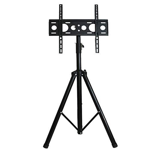 HJJH Universal-TV-Ständer Tischplatte, TV-Ständer mit Halterung für die meisten 37- bis 65-Zoll-Flachbildschirme, neigbar und höhenverstellbar in 5 Stufen mit gehärtetem Glas