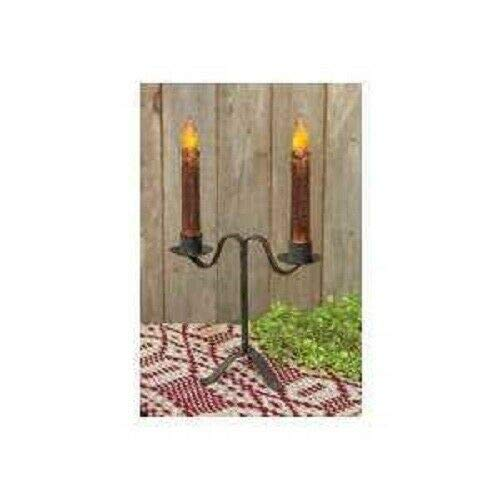 Colonial Double Taper Candle Holder in Black Wrought Iron, 7' Tall-Tapered candlesticks-Cheap candlesticks-Candlesticks and Holder-Candlestick Holders-Candlestick Holder Pillar-Candlesticks Holders