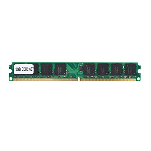 Yunir 2G DDR2 Memory Ram, 2GB DDR2 667MHz PC2-5300 PC Memory Ram 240Pin Module Board para Intel/para AMD