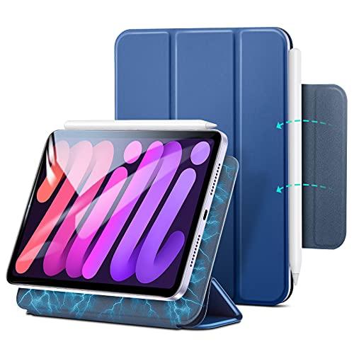ESR iPad mini6 ケース 2021 マグネットケース 磁気吸着 オートスリープ/ウェイク対応 Pencil 2対応 スリム 手触りがいい カバー ベイビーブルー