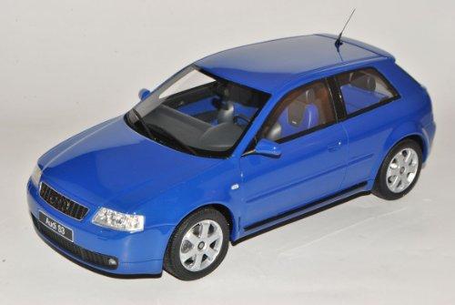 Otto A-U-D-I A3 8L Blau 1996-2003 Nr 99 1/18 Modell Auto mit individiuellem Wunschkennzeichen