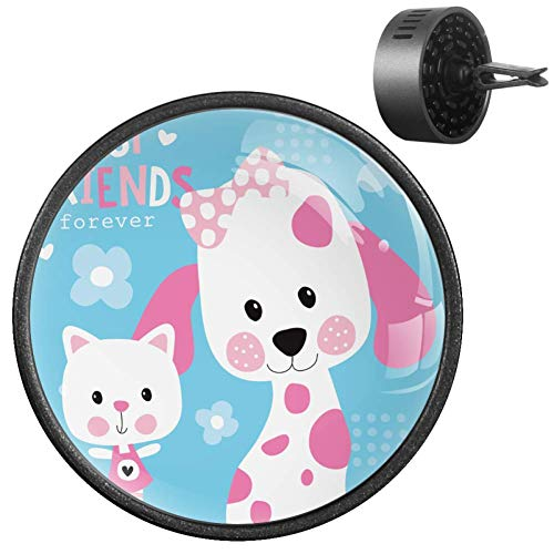 Best Friends Lovely Cat Dog Car Diffuser Essential Air Freshener Aromatherapy Gift