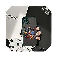 TieSen For iPhone 11 Pro 12 XS MAX X SE 20 X XR 7 68Plus用アンブレラアカデミー電話ケースかわいい透明マットカバーハードファンダス-Style 7-For iPhone X
