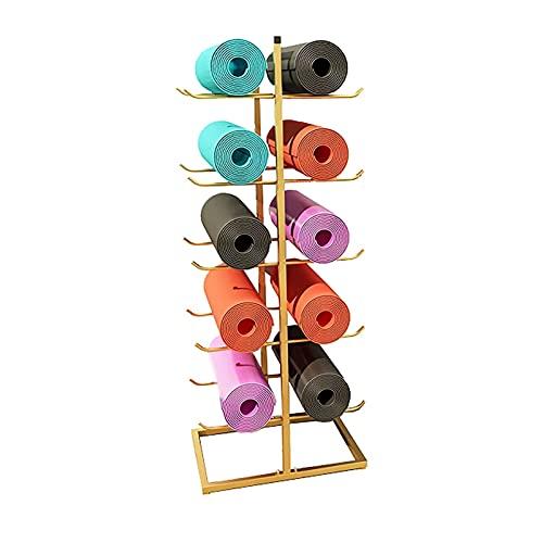 FUFU Soporte para Esterilla de Yoga 5 Niveles Rodillo Espuma/Yoga Estera/Estante Almacenamiento Estera Ballet por Correa Yoga Colgante, Bandas Resistencia por Home Gym & Studio, Organizador Multifu