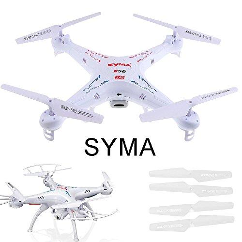 JKKJ 4 cuchillas de hélice para Syma X5C X5SC X5SW aviones, hélice de liberación rápida Props Blade Set RC Drone Quadcopter Repuestos Drone Shell