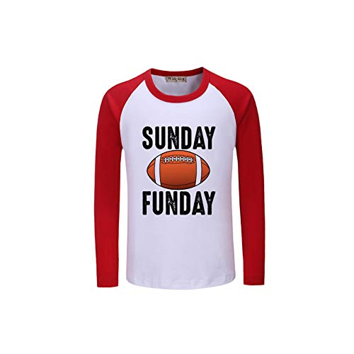 Bambini Maglietta Camicia maglietta di stampa della lettera T accogliente Domenica Funday Calcio Vintage autunno a maniche lunghe maglietta for ragazzi e ragazze Bambini ( Color : A01 , Size : 120 )