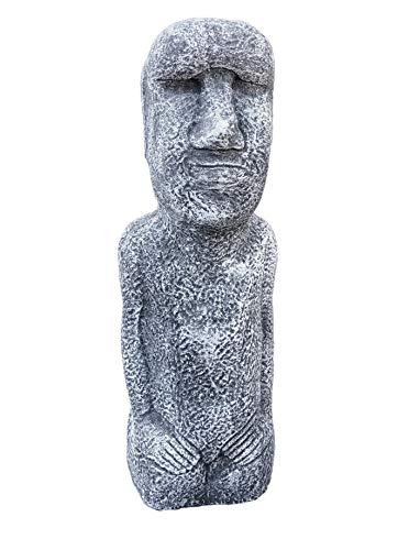 Steinfigur Osterinsel Statue, frostfest bis -30°C, massiver Steinguss
