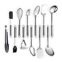 Berglander Utensile da cucina in acciaio inossidabile 12 pezzi, cucchiaio da cucina, utensili da cucina Utensile da cucina (12 pezzi)
