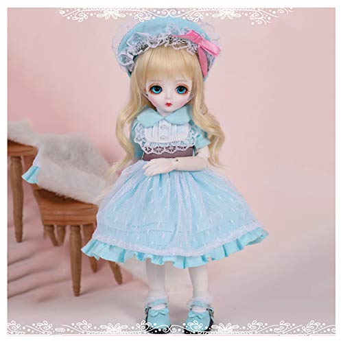 BJD Muñeca, 1/6 SD Dolls 26CM/10.2Inch Ball Jointed Doll DIY Juguetes con Maquillaje Completo De Peluca De Zapatos De Ropa, Niñas - Lina MIU