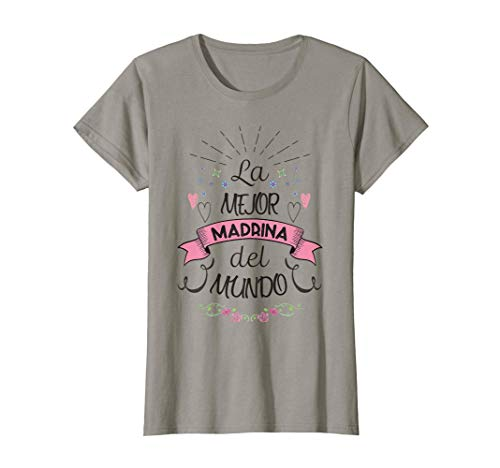 Mujer Regalo para Madrina - Boda o Bautizo Camiseta
