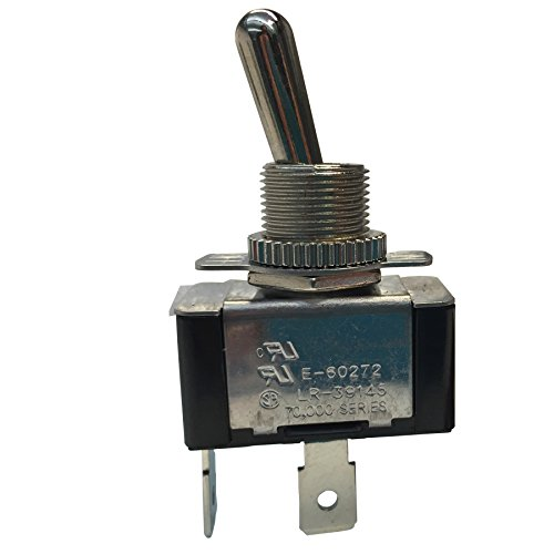 Gardner Bender GSW-121 Heavy-Duty Electrical Toggle Switch, SPST, ON-OFF, 20 A/125V AC, Spade Terminal