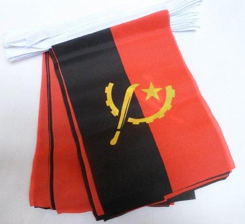 World of Flags 6 m Girlande, Motiv Flagge Angola
