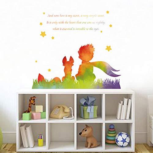 decalmile Pegatinas de Pared El Principito Frases Vinilos Decorativos Cuento de Hadas Adhesivos Pared Habitación Infantiles Niños Bebés Guardería