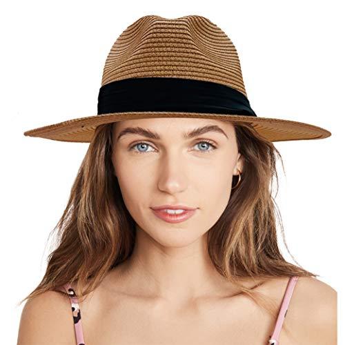 accsa Sombrero de Paja para Mujer y Hombre Ajustable Sombrero de Panamá...