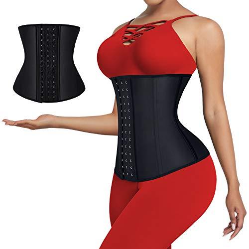 Waist Trainer for Women Waist Shaper Weight Loss Waist Training Latex Waist Cincher Corset Underbust Body Shaper L
