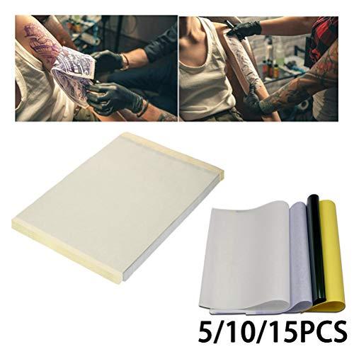 Sunine - 5 unidades de papel de transferencia de tatuaje té