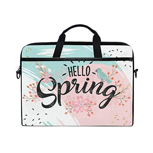 Hello Spring Notebook-Tasche mit Tragegriff für 14 Zoll bis 15,4 Zoll (35,6 bis 39,1 cm)